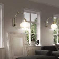 2x appliques murales verre luminaires intérieures laiton courbé lampes antiques