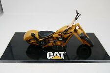 CATERPILLAR 1:10 SCALE DIECAST MOTORCYCLE CHOPPER ON PLINTH