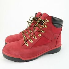 Timberland Boots A1640 Mens Red Suede Waterproof Size 13 M Primaloft Insulated