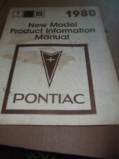1980 Pontiac Factory New Product Information Manual