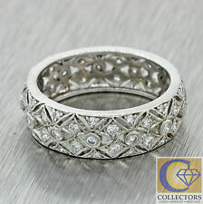 1940s Antique Art Deco Estate Solid Platinum .60ctw 6mm Diamond Ring