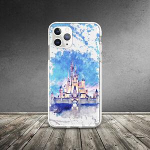 Watercolor Princess Castle Disney Case For iPhone SE XR 11 Pro Xs Max X 8 7 6 6s