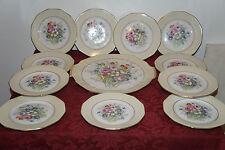 Service a dessert en porcelaine lj & cie signé LUC PLAT + 11 ASSIETTES Limoges ?