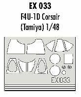 Eduard 1/48 F4u-1D Corsair paint mask for Tamiya kit # EX033##