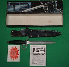 T2 United Cutlery Terminator Knife & Manufacturer Leather Sheath with Original B