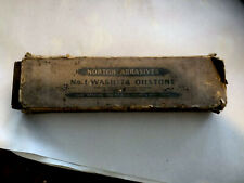 "VINTAGE NORTON ABRASIVES 6"" NO. 1 WASHITA SHARPENING  OILSTONE WITH LABEL Old"