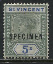 St. Vincent QV 1898 5/ overprinted SPECIMEN