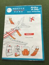 safety card china airlines airbus a300