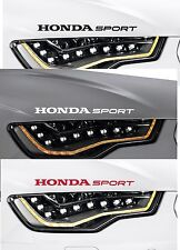 For Honda - 2 X HONDA SPORT -  VINYL CAR DECAL STICKER CIVIC ACCORD  300mm long