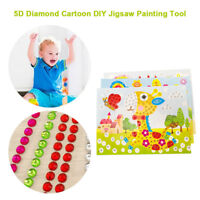B8BF Diamond Embroidery 5D Painting Kids Craft Glittering Durable Color Random