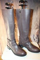Enzo Angiolini Brown Leather 6 M Women's Knee High Boots