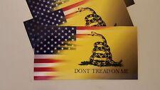 "Dont Tread On Me Gadsden  USA Flag Vinyl Decal Sticker 5""X 3"""