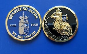 """Coin Bundeswehr Deutsche Marine Fregatte F 125 - Besatzung Alpha """" """""""
