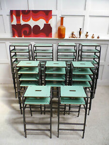 1/40 Vintage Retro Reclaimed Ex School Stacking Remploy kitchen Bar Stools