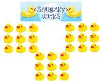 Bathtime Water Toys 3 Packs Of 9 Squeaky Rubber Ducks Bath Duck Yellow Ducks 6cm