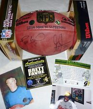GREEN BAY PACKERS BRETT FAVRE 4 GREG JENNINGS SIGNED IRONMAN LE #4 FOOTBALL COA