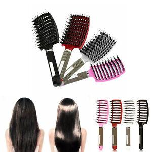 Man Women Professional Hair Brushes Nylon Bristle Scalp Massage Comb Styling ERM