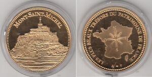 Médaille contemporaine Française  Le Mont-Saint-Michel