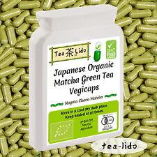 Japanese Matcha Green Tea Powder Capsules, 60 x 500mg, ORGANIC, Vegicaps.