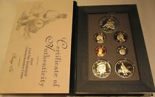 1995 Prestige Proof Set U.S. Mint COA & Box 7 coin With Civil War Silver Dollar