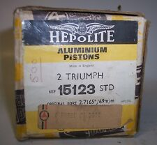 TRIUMPH HEPOLITE STD PISTONS 500 DAYTONA T100R BOBBER CAFE CHOPPER NOS T100C