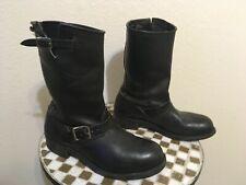 USA vintage Harley-Davidson Men's Motorcycle Black Leather Steel Toe Boots 10M