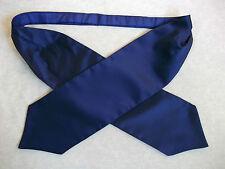 Ascot Cravat MENS Retro Neckwear WEDDING NAVY BLUE SILKY