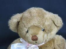 BIG VINTAGE DAKIN  GOLDEN BROWN TEDDY BEAR  PINK BOW  PLUSH STUFFED ANIMAL TOY