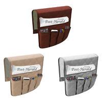 Bedside Sofa Armrest Organizer Caddy Bags Remote Control Phone Book Tidy Holder