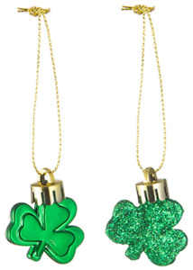 36 Pieces St. Patricks Day Green Shamrock Ornaments Good Luck Clover Decoration