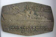 POLISH POLAND WWII ARCTIC CONVOY MURMANSK ARCHANGELSK SOVIET RUSSIA MEDAL HUGE