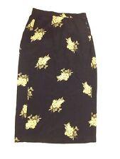 Talbots Size 12 Navy Floral Maxi Long Wrap Style Skirt