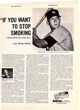 1960 Campana Bantron Smoking Tablets Mickey Mantle Vintage Magazine Print Ad