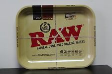 """Raw Tin Metal Large Full Size Roll Cigarette Rolling Tray 13-1/2"""" x 11"""""""