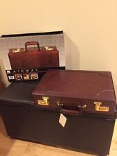 "VINTAGE AIRWAY Galaxy 4""  MAHOGANY BRIEFCASE ATTACHE CASE. New with box and tags"