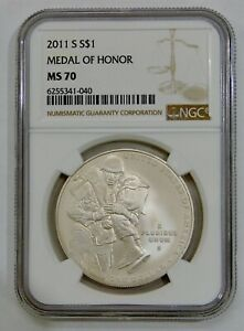 2011 S - Medal of Honor Commemorative Silver Dollar - NGC MS 70