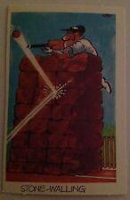 1972 SUNICRUST WEG'S COMEDY CRICKET CARD NO. 23 STONE-WALLING