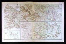 Civil War Map Spotsylvania Kenesaw Marietta Wilderness Chickamauga Totopotomoy