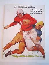 1948 SANTA CLARA VS CALIFORNIA COLLEGE FOOTBALL PROGRAM - TUB BN-5