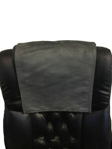 """FURNITURE RECLINER HEADREST COUCH SUEDE LEATHER SOFA PROTECTOR 14 """" x 30 """""""