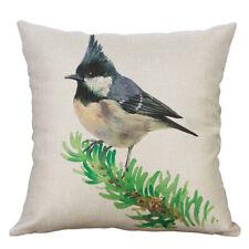 18''  Bird painting Pillow Case Sofa Car Waist Throw Cushion Cover Home Decor