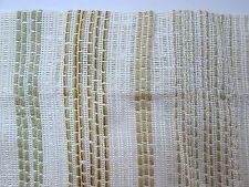 Set 2 Panels Vgc Vtg 60s 70s Green Stripe Woven Tiki Danish Mod Drapes Curtains