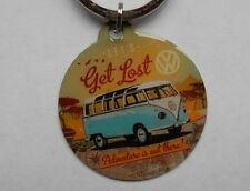 KEYRING - VOLKSWAGEN T1 BUS Let's Get Lost - Double Sided by Nostalgic Art