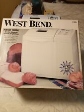 West Bend Bread and Dough Machine Maker Model 41026 White