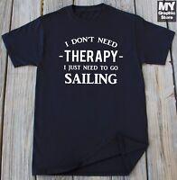 Sailing T-shirt Fishing Boating Summer Vacation Funny Shirt Christmas Gift Tee