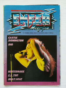 ENFER MAGAZINE n° 5 DIO Whitesnake ZZ Top H Bomb heavy metal hard rock 1983