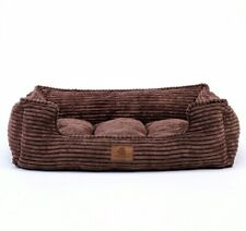 Ultra Supreme Removable Velvet Corduroy Cover House Dog Beds for Small Medium