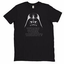 Men's STAR WARS  - D Vader -Black 100% Cotton Graphic T-shirt  FREE USA SHIPPING