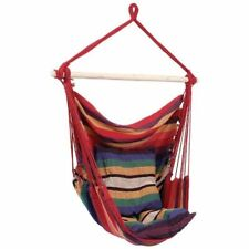 Porch Swing - Hanging Hammock Chair For Your Outdoor Living Space - Red