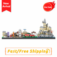 MOC The Journey to Hօgwarts Skyline Building City Horizon Kid Birthday Gift Toys